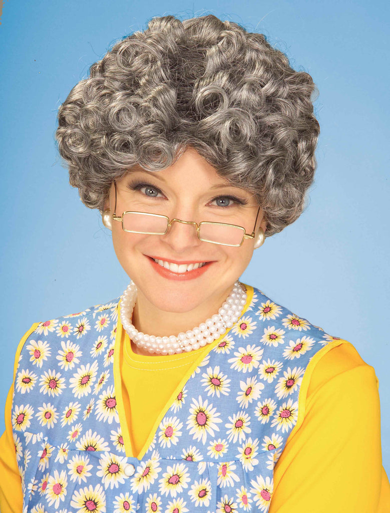 Costume Wigs Grey Afro Wig