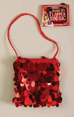 Halloween Costume Flapper Handbag Red Sequin