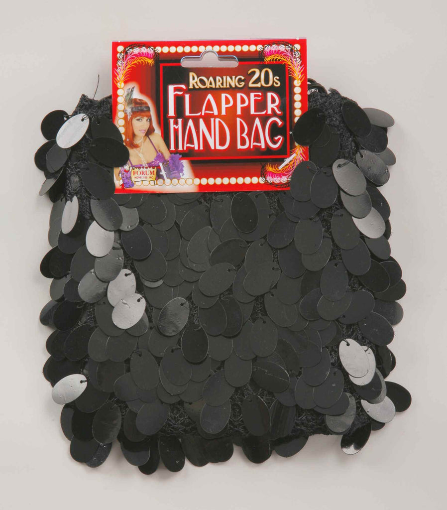 Halloween Costume Flapper Handbag Black Sequin