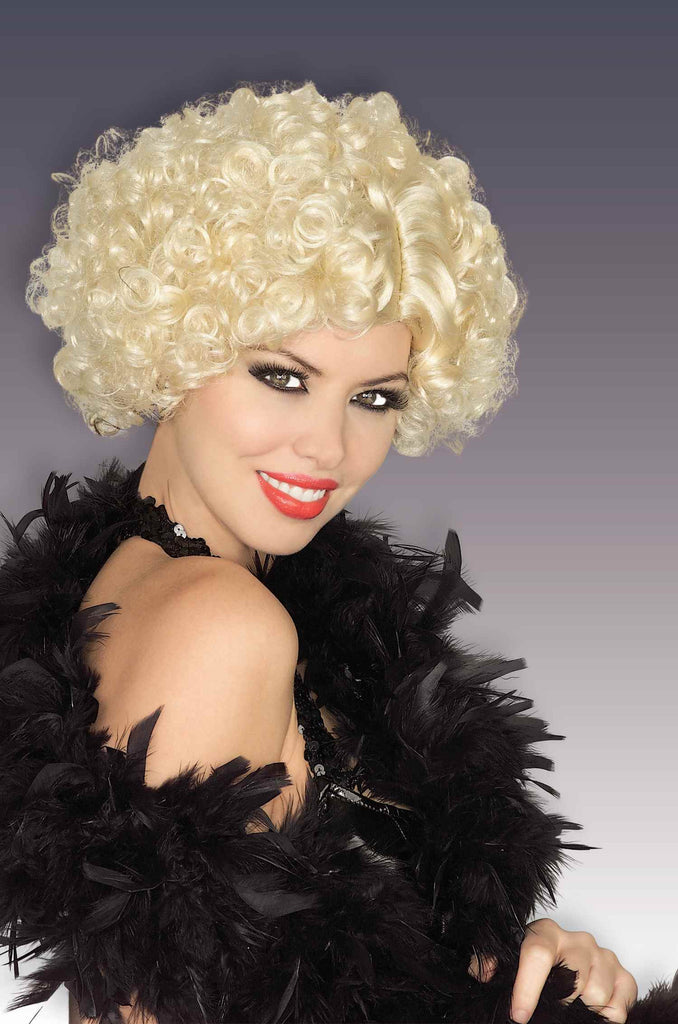 Halloween Wigs Curly Blonde Flapper Costume Wig