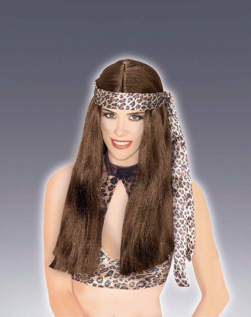 Costume Wigs Cave Woman Halloween Wig Brown
