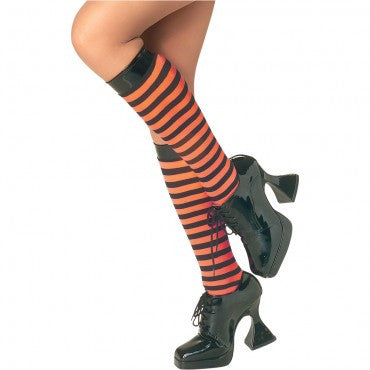 Orange and Black Striped Knee Highs