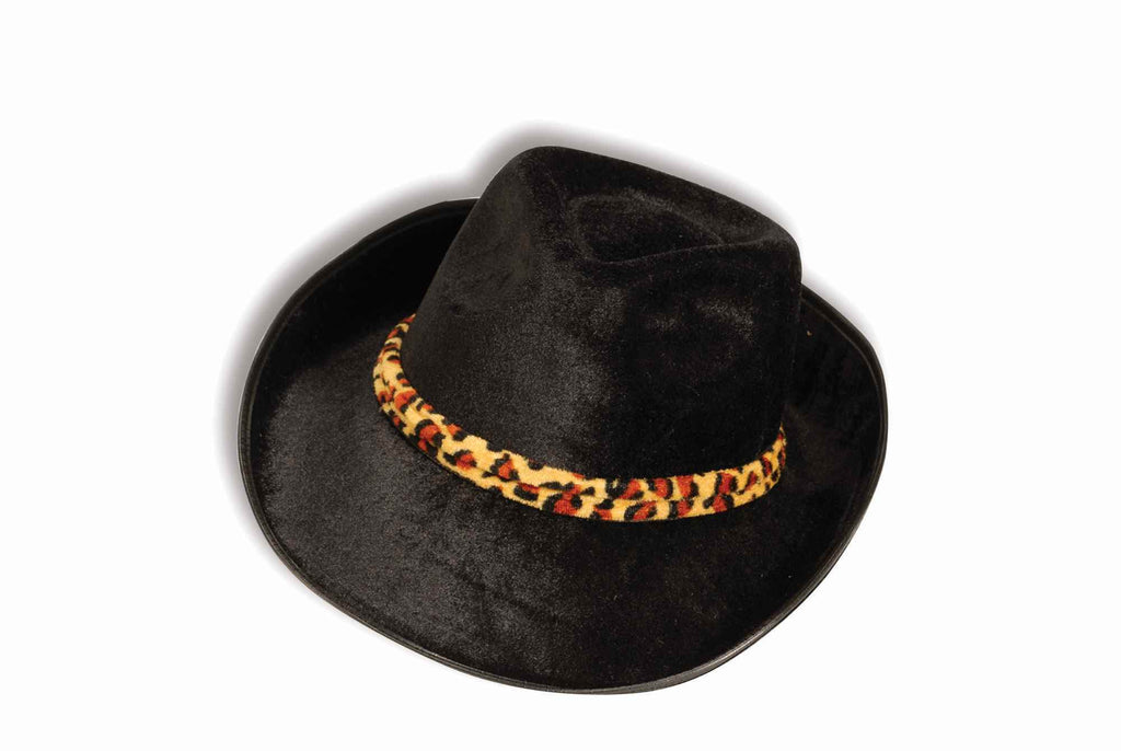 Halloween Hats Black Velvet Fedora Costume Hat