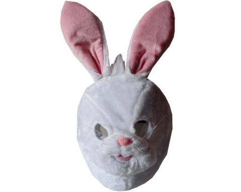 Plush White Bunny Mask