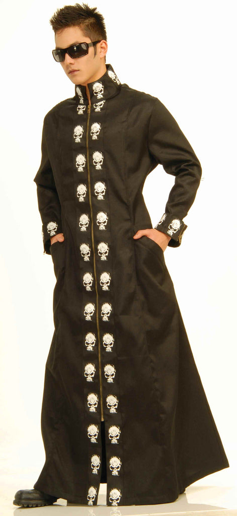 Halloween Costumes Mens Skull Duster Coat