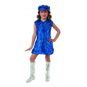 Girls Blue Mod Costume