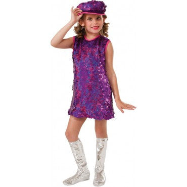 Girls Pink Mod Girl Costume