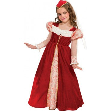 Girls Red Jewel Princess Costume