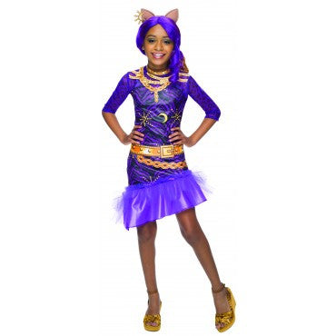 Girls Monster High Clawdeen Wolf Costume