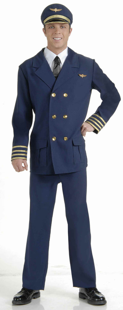 Pilot Costumes Adult Airline Pilot Halloween Costume