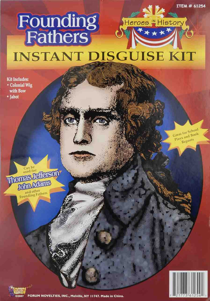 Historical Costumes Jefferson Costume Wig Kit