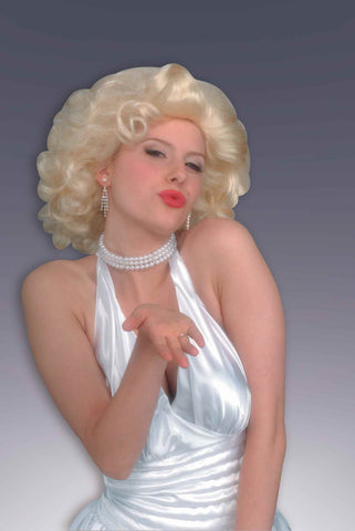 Halloween Wigs Retro Hollywood Starlet Wig/Jewelry Set