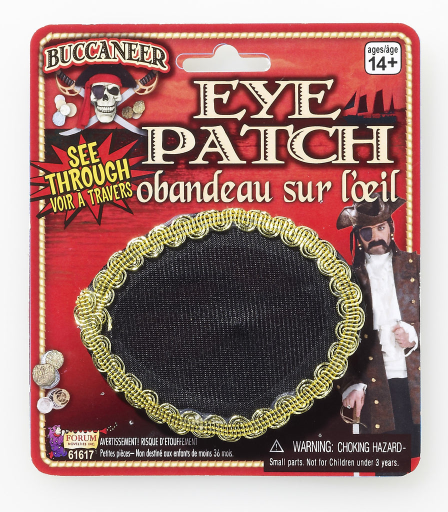 Halloween Costume Pirate Eye Patch See Thru