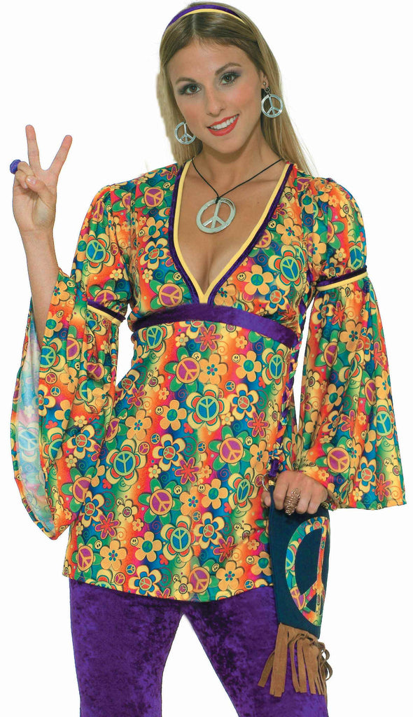 Hippie Costume Peace Sign Jewelry Kit