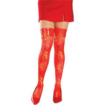 Flaming Thigh High Stockings