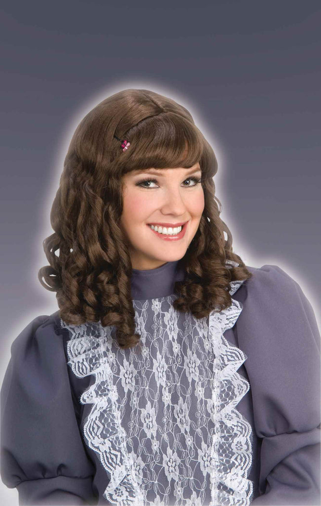 Halloween Wigs Colonial Woman Wig Brown