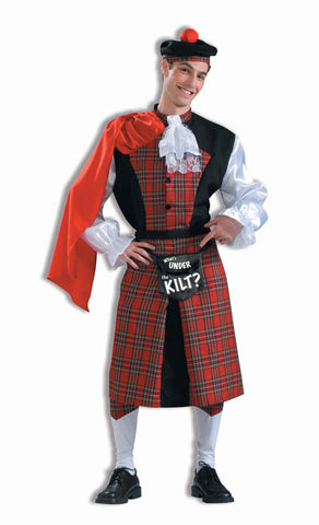 Funny Costumes Well Endowed Irish Kilt Man Costume