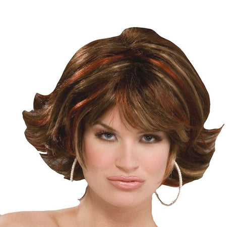 Auburn Celebrity Wig w/ Highlights