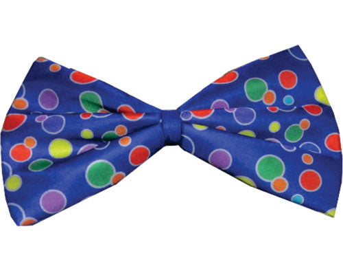Polka Dot Clown Bow Tie - Blue or Yellow