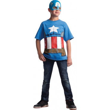 Boys Captain America Costume Shirt