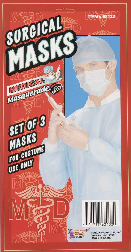 Halloween Costume Doctor Masks 3 Pc