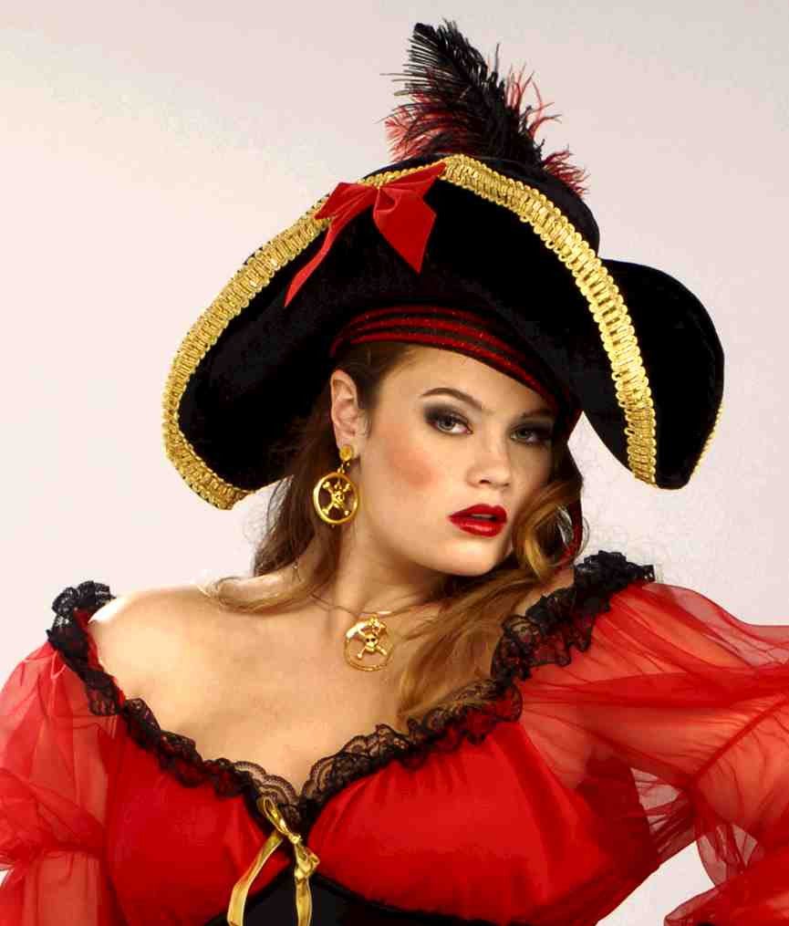 Halloween Hats Pirate Woman Costume Hat