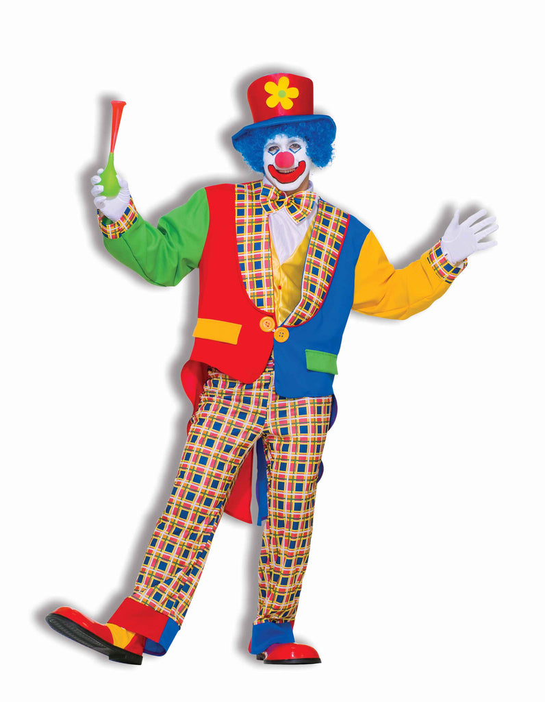 Clown Halloween Costumes Deluxe Clown Costume Adults