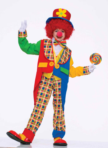 Clown Costumes Childs Deluxe Clown Halloween Costume