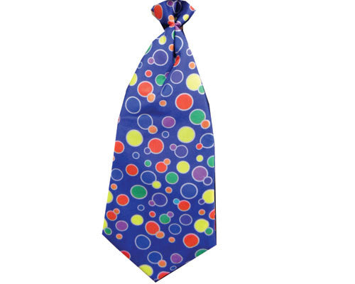 Polka Dot Clown Tie - Blue or Yellow