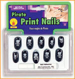 Pirate Print Nails