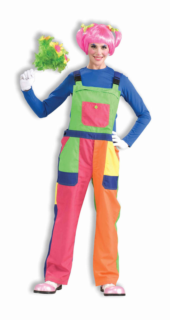 Clown Costume Overalls Adult Size