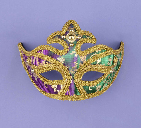 Mardi Gras Color Change Queen Eyemasks