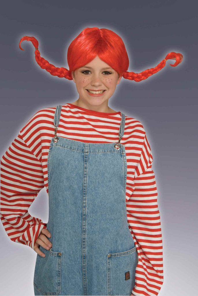 Funky Braids Halloween Wig Bright Red
