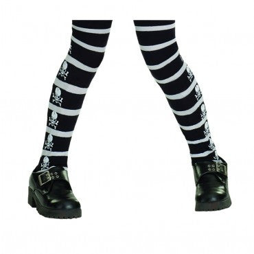 Kids Skull & Crossbones Pirate Tights