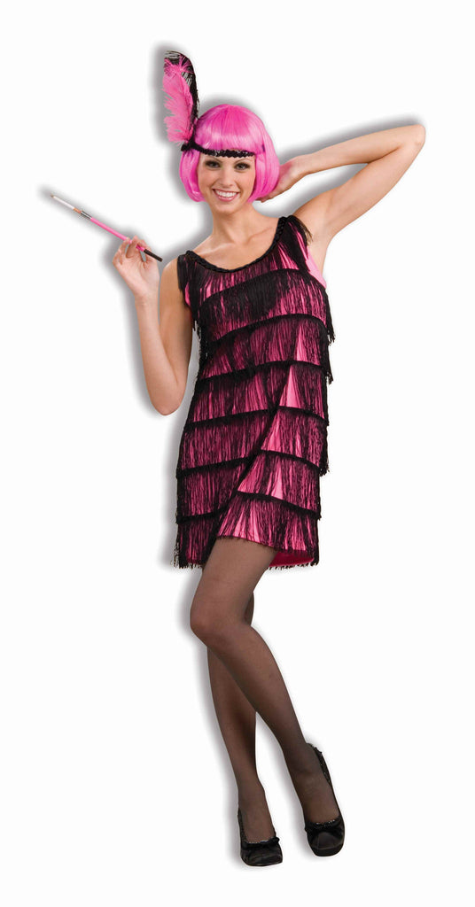 Pink Flapper Roaring 20's Costume for Adults