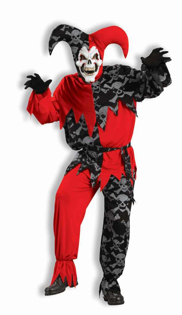 Evil Halloween Jester Costume for Adults