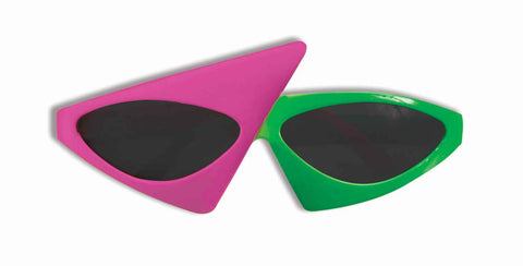 Neon Green/Pink Eighties Sunglasses