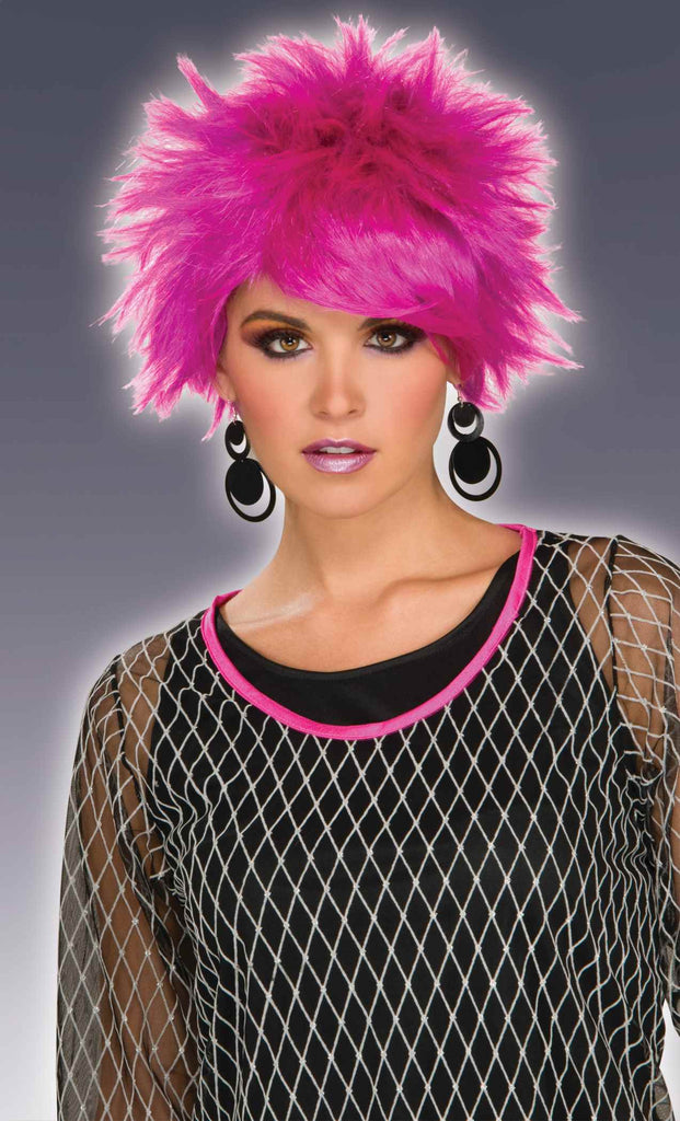 Purple Costume Wigs Short Spikes