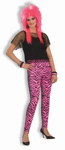 Womens Zebra Stirrup Pants