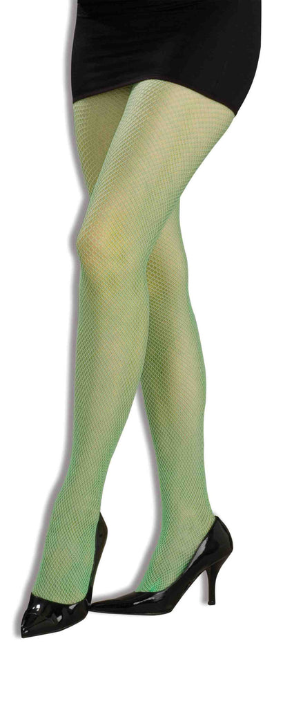 Costume Fishnet Pantyhose Neon Green Adult