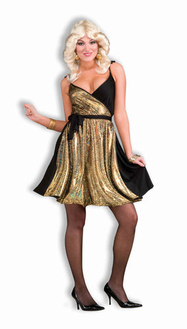 Disco Woman Costumes Gold Disco Woman