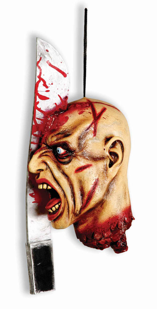 Machete in the Severed Head Prop