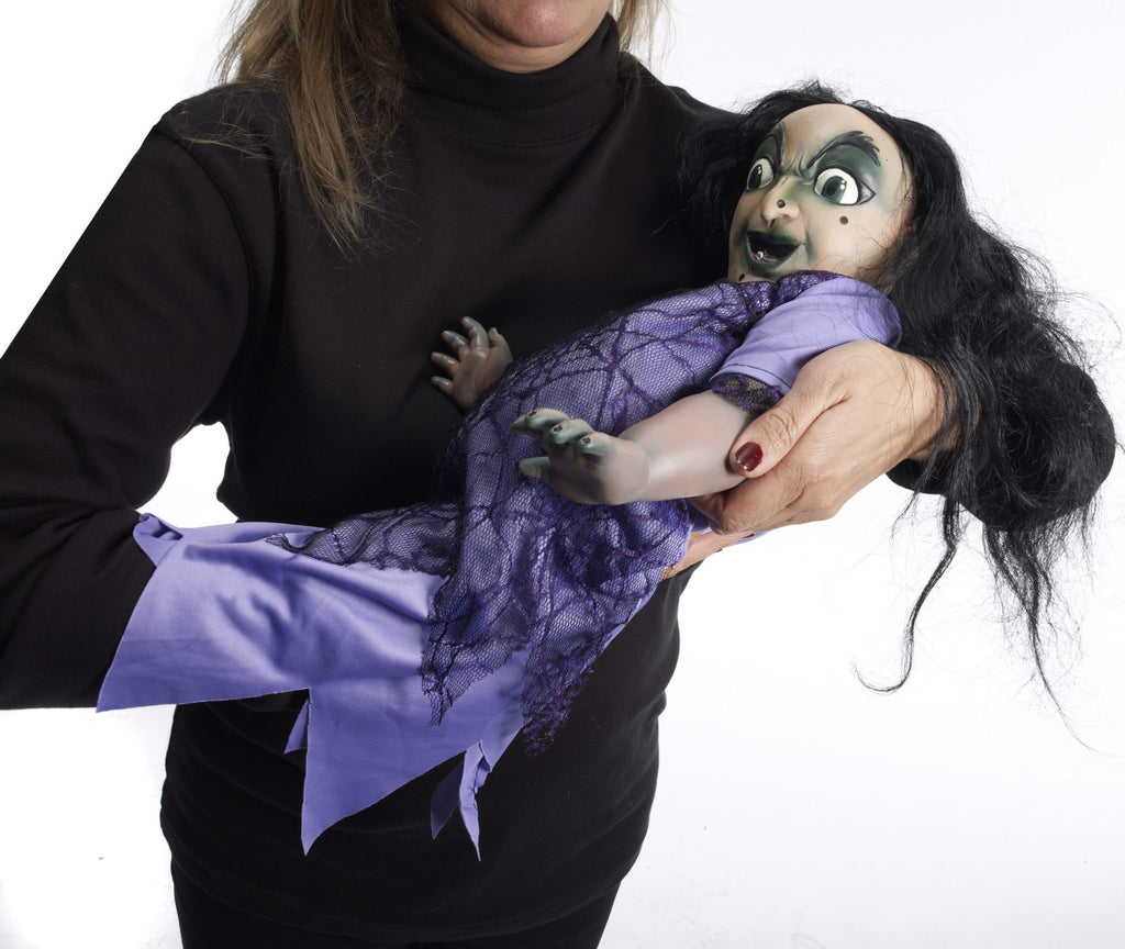Halloween Evil Witch Baby Puppet