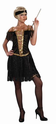 Flapper Costumes Gold Fringe Flapper