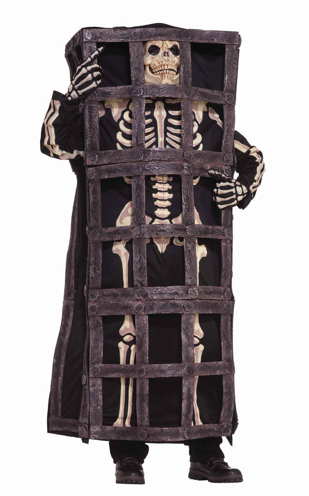 Skeleton in a Cage Adult Halloween Costumes