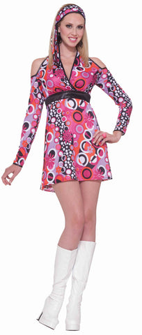 Women's Halloween 60's Mod Costume Dress