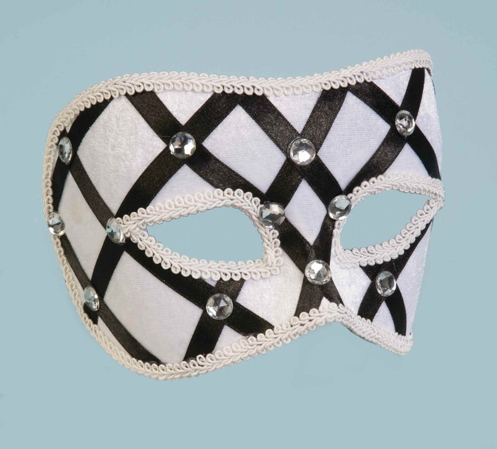 Halloween Eye Masks Ribbons and Jewels Mask