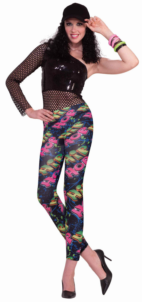 Halloween 80's Hip Hop Woman Costume Leggings