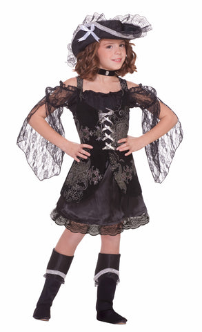 Deluxe Girls Swashbuckler Pirate Halloween Costumes