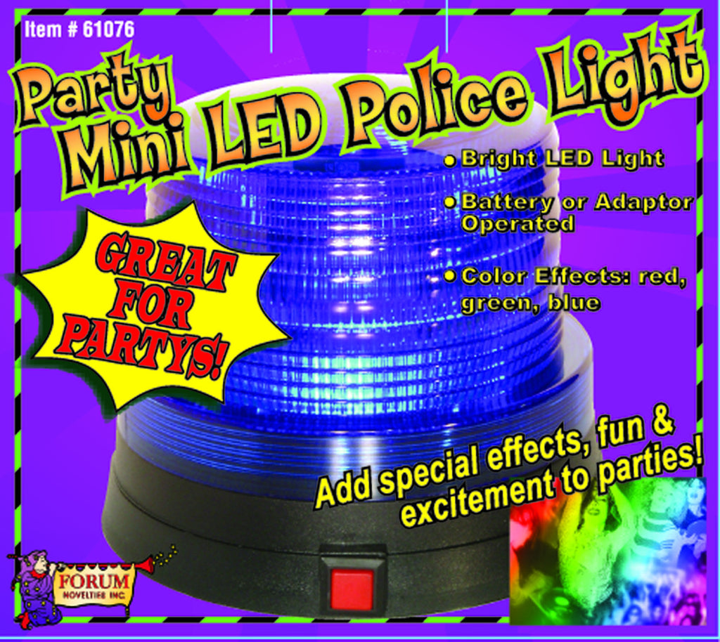 Mini Police Lights Red Halloween Party Light